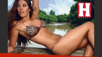 Ivana Nadal, la morocha infartante de Tiempo Extra. (Foto: revista Hombre)