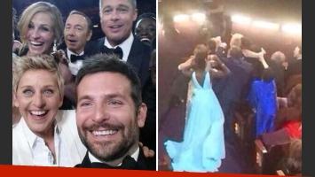 La selfie de Bradley Cooper con Ellen DeGeneres y la prueba de que Liza Minnelli se quedó afuera. (Fotos: Web)