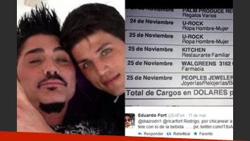 Rodrigo Díaz habría realizado una serie de gastos el día de la muerte de Fort. (Fotos: Web y Twitter)