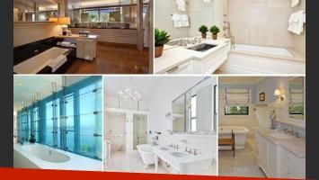 Los impresionantes baños de las mansiones de 6 estrellas de Hollywood. (Foto: Web)