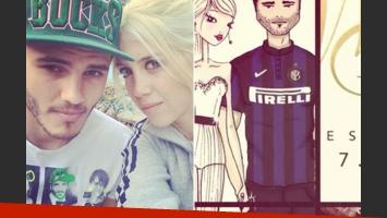 Wanda Nara y Mauro Icardi se casan el 7 de junio. (Fotos: Twitter)