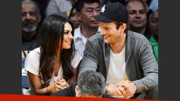 Ashton Kutcher y Mila Kunis, embarazados. (Foto: Web)