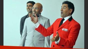 Federico Hoppe, mano derecha de Tinelli, Freddy Villarreal y Mariano Iúdica, en Mansión Imposible. (Foto: Web)