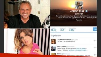 Jorge Rial volvió a seguir a Loly en Twitter. (Fotos: archivo Web y @rialjorge)