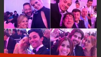 Todas las fotos de la intimidad de la gran fiesta de Telefe. (Foto: Twitter)