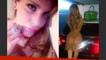 Charlotte Caniggia y su jugada transparencia. (Foto: Twitter)