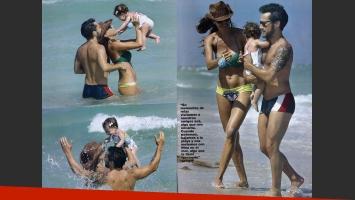 Diego Torres, en Miami con su familia. (Revista Gente)