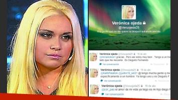 Verónica Ojeda rompió su silencio tuitero. (Foto: Web y Twitter)