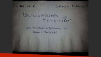 La servilleta que publicó Rial con otra posible marquesina (Foto: Twitter).