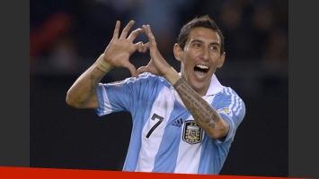 Angel Di María, celebrando un gol con su clásico festejo del corazón. (Foto: archivo Web)
