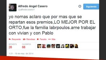 Alfredo Casero no fue al Martín Fierro, pero habló de Farsantes (Foto: Twitter)