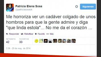 Patricia Sosa, muy dura contra el uso de pieles (Fotos: Captura de pantalla).