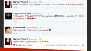 Barbie Vélez elogió la performance de Augusto como Michael Jackson (Foto: Twitter).