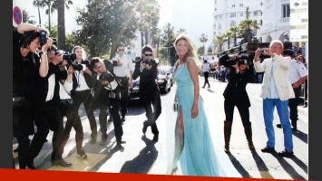 Flavia Palmiero y su novio, Luis Scalella, en el Festival de Cannes (Foto: ¡Hola! Argentina).
