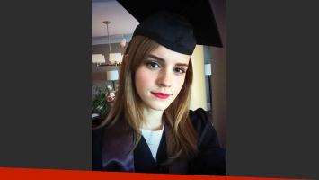 Emma Watson se graduó... pero no fue en Hogwarts, sino en la Universidad de Brown. (@EmWatson)