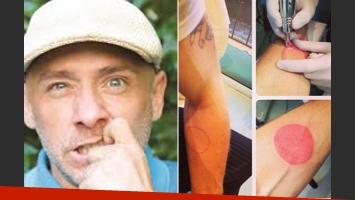 El nuevo tatuaje de Ronnie Arias. (Fotos: Gentileza Mara Folch e Instagram.com/ronaldo1ro)