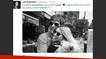 Lali Espósito y Gastón Dalmau en Nueva York (Foto: Twitter)
