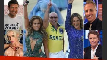 Marcelo Tienlli, Luciana Salazar y Alejandro Fantino, durísimos con la inauguración. A Marley le gustó... (Fotos: archivo Web)