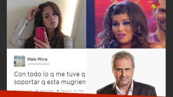 Marianela Mirra y fuertes tweets para Loly Antoniale (Fotos: Web y Captura).
