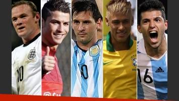 La lista de los 10 futbolistas mejor pagados del Mundial Brasil 2014 según Forbes. (Foto: Web)