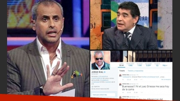 Jorge Rial defendió a Diego Maradona. (Foto: Web y Twitter)