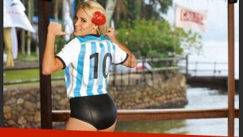 Rocío Oliva, ex de Diego Maradona, en Brasil (Fotos: Caras)