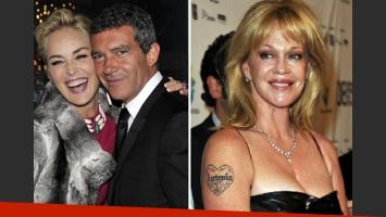 Antonio Banderas: ¿dejó a Melanie Griffith por Sharon Stone? (Foto: Web)