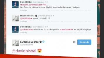David Bisbal y Eugenia Suárez, súper enamorados (Fotos: Twitter).