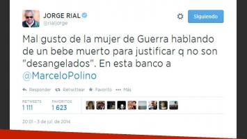 Jorge Rial expresó su opinión sobre los dichos de la mujer de Guerra (Fotos: Captura).