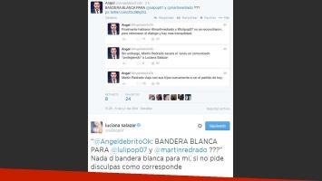 Cruce tuitero entre Angel de Brito y Luciana Salazar (Foto: Twitter)