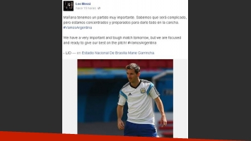 Lionel Messi y un mensaje a la Argentina (Foto: Facebook)