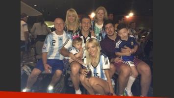 Evangelina Anderson y su apoyo a Demichelis en el Mundial. (Twitter)