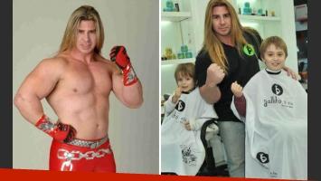 Vicente Viloni, de luchador a peluquero. (Foto: Web y revista Semanario)