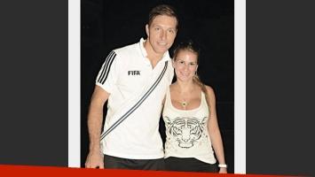 Néstor Pitana con su novia (Foto: Twitter)