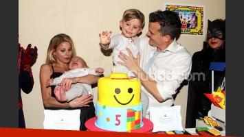 Jimena Cyrulnik y Lucas Kirby celebraron el cumple de Calder en familia (Fotos: Jennfier Rubio).