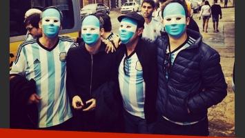 Adrián Suar, Guillermo Francella, Nicolás Francella, Toto en Argentina-Holanda (Foto: Instagram)