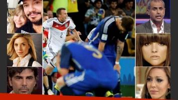 Los tweets de los famosos por la derrota argentina. (Foto: Web)