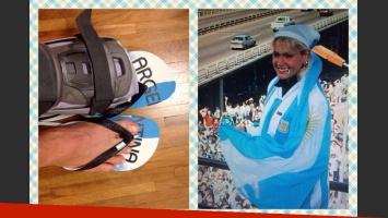 ¡Grosa! Xuxa alentó a la Argentina en la final del Mundial Brasil 2014. (Foto: Facebook Xuxa)