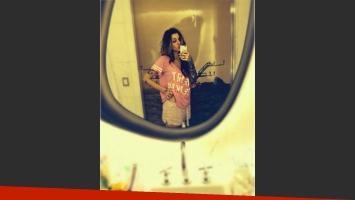 El look sexy y en pijama de Candelaria Tinelli. (Foto: Instagram)
