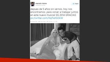 Marcelo Iripino, feliz por su reencuentro con Susana Giménez (Foto: Twitter)