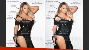 Mariah Carey: filtran fotos sin Photoshop y… ¡la destrozaron en las redes sociales! (Foto: Jezebel)