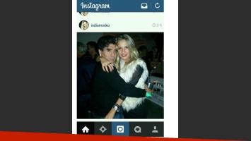 Maradona junto a Eva Amodeo (Foto: Web)