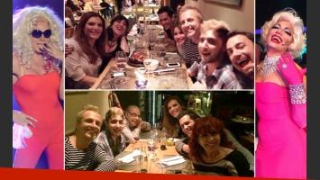 Florencia de la Ve y la mesa chica de Tu cara me suena. (Foto: Twitter)