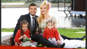Sergio Romero y Eliana Guercio, enamorados y en familia. (Foto: revista Caras)