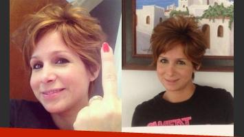 El nuevo look de Fernanda Vives. (Fotos: Twitter)
