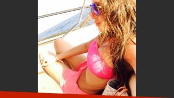 La sensual selfie de Mariana Antoniale disfrutando de sus vacaciones en Europa (Foto: WhatsApp)