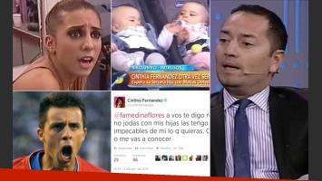 Cinthia Fernández y Matías Defederico, indignados con Fabián Medina Flores. (Fotos: Twitter y archivo Web)