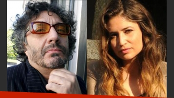 Fito Páez y Julia Mengolini, enfrentados (Fotos: Web).