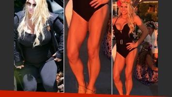 Jessica Simpson bajó 30 kilos tras dar a luz pero se le fue la mano en el gym: ¡mirá las piernas! (Foto: Web/Instagram)