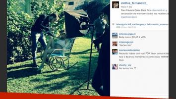 Cinthia Fernández y su pancita de cuatro meses (Foto: Instagram).